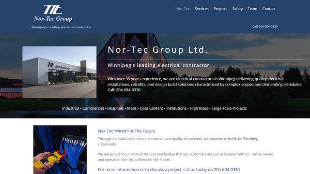 Nor-Tec Group Ltd. – Winnipeg's leading electrical contractor - Google Chrome 9272021 21241 PM